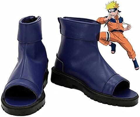 Telacos NARUTO Anime Uzumaki Naruto Ninja Cosplay Shoes Blue Boots Custom Made