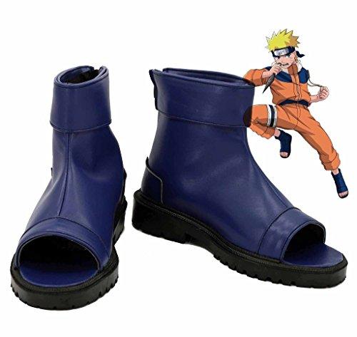(NARUTO Anime Uzumaki Naruto Ninja Cosplay Shoes Blue Boots Custom Made)