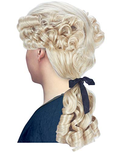 Angelaicos Womens Lolita Highlights Long Curly Clip on Ponytails Cosplay Wigs (Dark Blonde)
