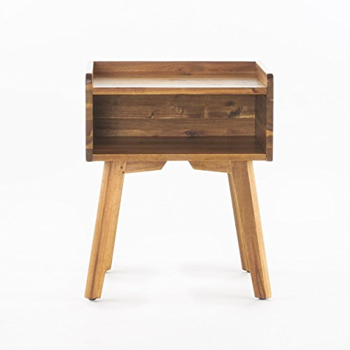 Alanna Natural Stained Acacia Wood Nightstand by GDF Studio (Image #4)