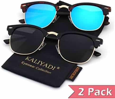 7f97278af78 Unisex Polarized Retro Classic Trendy Stylish Sunglasses for Men Women:100%  UV Blocking