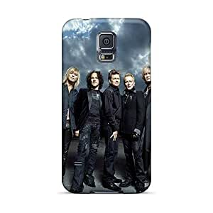 Durable Cell-phone Hard Covers For Samsung Galaxy S5 With Unique Design Fashion Def Leppard Band Skin SherriFakhry
