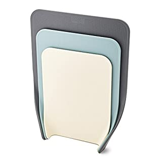 Joseph Joseph 60122 Nest Chop Set of Nesting Plastic Cutting Boards 13.25-inch x 10-inch Chopping Board Kitchen Prep Mat with Curved Edges 3-piece.