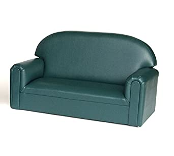 Brand New World Furniture FIVT100 Toddler Premium Vinyl Upholstery Sofa,  Teal