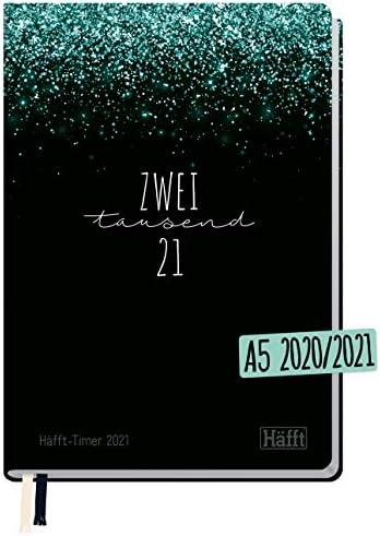 Häfft-Timer 2020/2021 A5 [Glitter] Hardcover Schüler-Kalender, Schüler-Planer, Schulplaner, Semesterplaner für Oberstufe, Ausbildung oder Studium | nachhaltig & klimaneutral