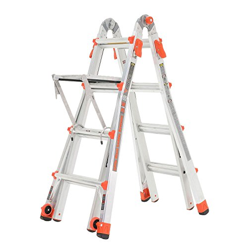 Little Giant Ladder Systems 17' Aluminum Multi Position Ladder w/Work Platform