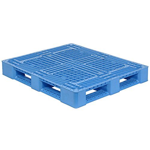 48x40 Rackable FDA and USDA Plastic Pallet, Blue, 4000 Lbs Fork Capacity ()