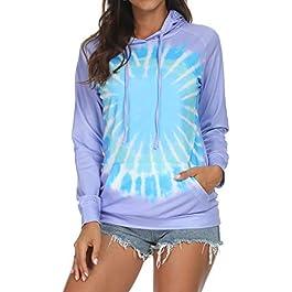 Barlver Women's Casual Hoodies Color Block Long Sleeve Drawstring Sweatshirts 1/4 Zip Pullover Lightweight Tops with…