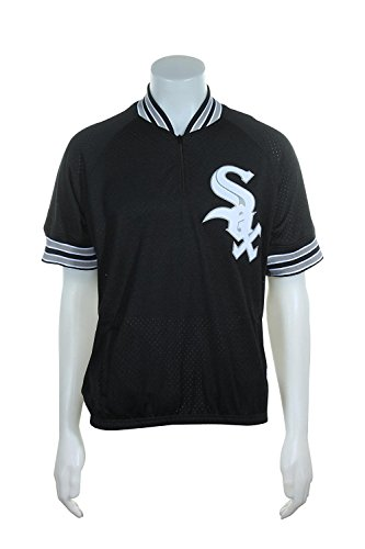 Mitchell & Ness Bo Jackson #8 Chicago White Sox Men's 1/4 Zip Mesh Batting Practice Jersey (4X-Large (60))