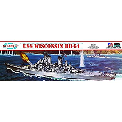 USS Wisconsin BB-64 Plastic Model Kit Big Battleship 1/535 Atlantis: Toys & Games