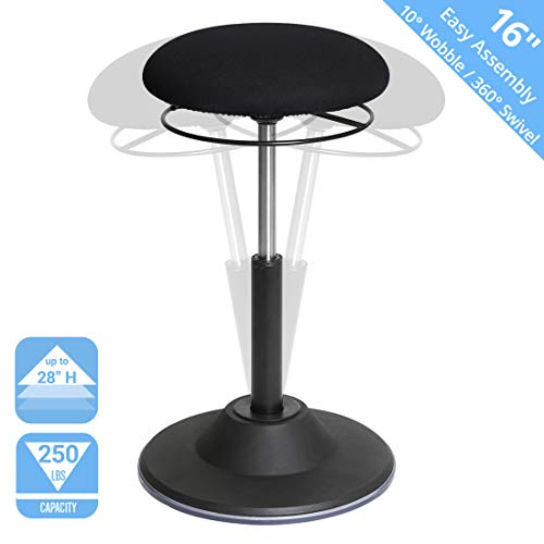 Seville Classics Airlift 360 Sit-Stand Adjustable Ergonomic Active Balance Non-Slip