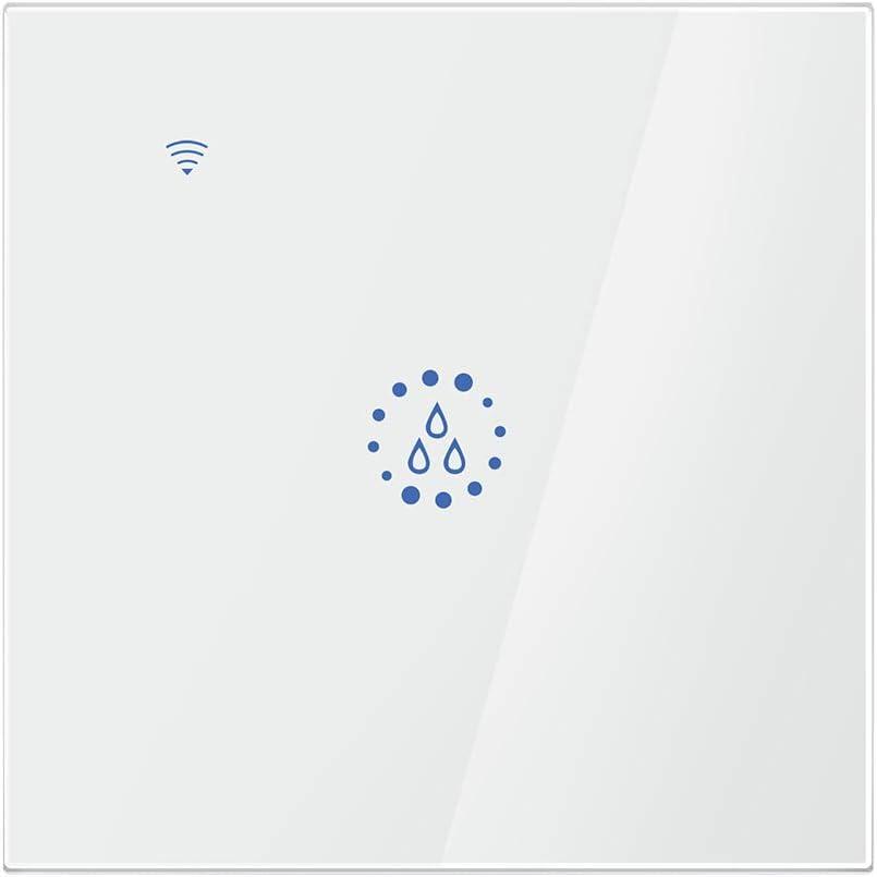FreeLeben Calentador de Agua Inteligente Interruptores, 20A WiFi Control Remoto de Voz Casa Panel de Pared Táctil de Caldera Controlador de Temporizador Compatible con Alexa/Google (Blanco)