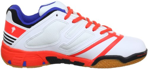 Kempa Speed Jr. 200835301 Unisex-Kinder Handballschuhe Weiß (white/red flash/speed blu)