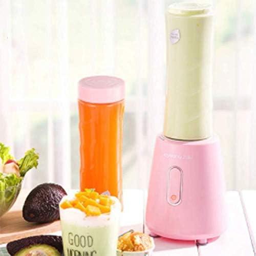 LEIXIN Zalamero Blender portátil, Hogar Personal Batido de Blender, Mini Exprimidor Copa, 400ML Jugo de Blender, (Rosa)