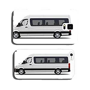 White minibus - side view cell phone cover case iPhone5