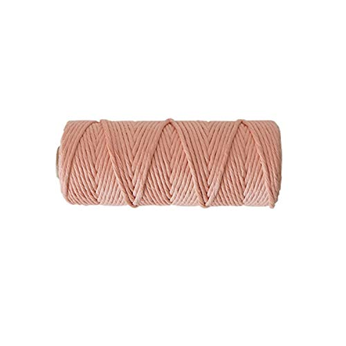 (3Mm Home Woven Handmade Single-Strand Color Cotton Rope DIY Rope Decorative Cotton Thread,Light Pink)