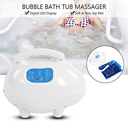 Electric Bathtub Bubble Massage Mat, Waterproof Tub Massaging Spa Portable Non-Slip Suction Cup Bottom with Remote Control Adjustable Bubble Settings(US Plug) by Semme (Image #4)