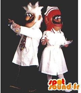 Duo disfraz de un científico y su asistente: Amazon.es: Juguetes y ...