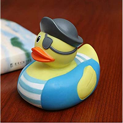 ESALINK 1Pc Pirate Duck Bath Toy Rubber Duckies for Kids Birthday Party Wedding Party Favors: Toys & Games