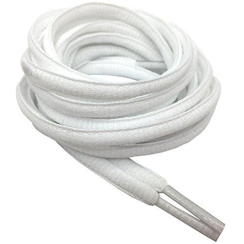 DELELE 2 Pair Oval Shoes laces Half Round 1/4