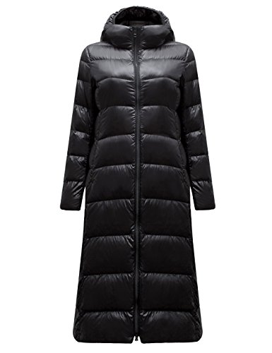 - Yeokou Womens Lightweight Quilted Full Length Long Hoodie Down Puffer Parka Coat