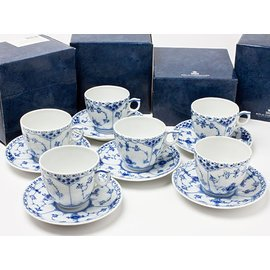 Amazon com: Royal Copenhagen Blue fluted cup and saucer ( 6