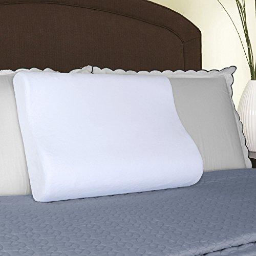 - HoMedics Cool Ergo Contour Memory Foam Pillow, White