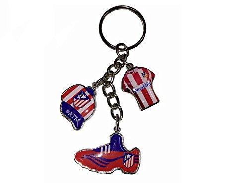 Llavero Club Atlético de Madrid Camiseta Gorra y Bota de ...