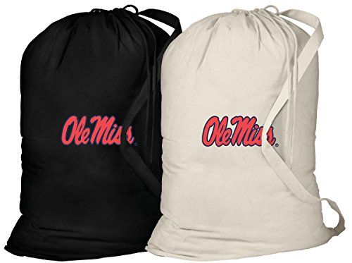 Broad Bay Ole Miss Laundry Bag -2 Pc SET- University of Mississippi Clothes Bags by Broad Bay