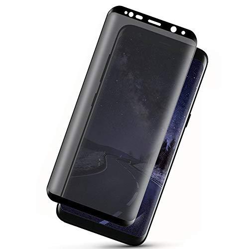 予報農業リダクターfor Samsung Galaxy S9 のぞき見防止 液晶保護フィルム- [1枚] [HD] 9h のフィルムタブレット 画面保護フィルム ガラスフィルム ガラス強化膜 保護フィルム 高品質強化ガラス 高い透明度 耐傷 のぞき見防止for Samsung Galaxy S9
