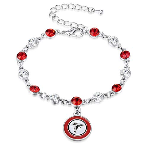 Pro Specialties Group NFL Atlanta Falcons Two Tone Crystal Bracelet