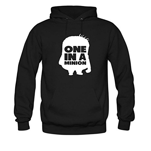 FPPING Men's One in a Minion Long Sleeve Hoodie (Minion Mens Sweatshirt)