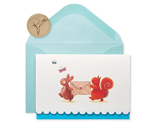 Papyrus Blank Cards with Envelopes, Bunny & Squirrel (14-Count)