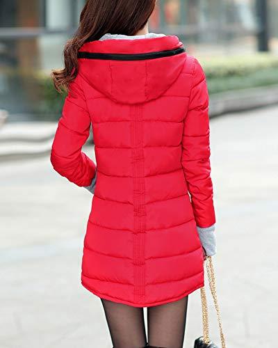 Coat Padded Jacket Guiran Thicker Parka Casual Warm Slim Overcoat Women Red Down Winter gnq0qEvSw