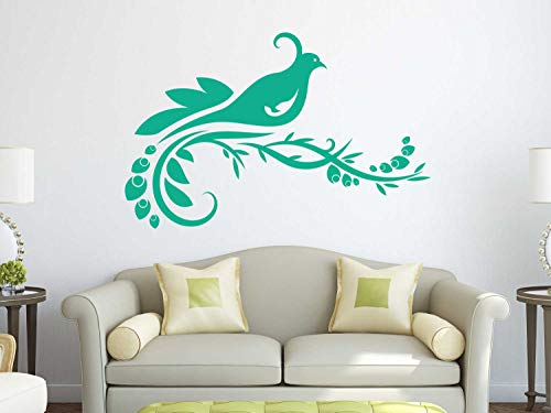(Elegant Bird Wall Decal | Quail Vinyl Home Decor for Living Room, Kitchen, Family Room, Bedroom, Office, Clubhouse, Restaurant, Event Center | Small, Large Sizes | Black, White, Brown, 25 Colors)