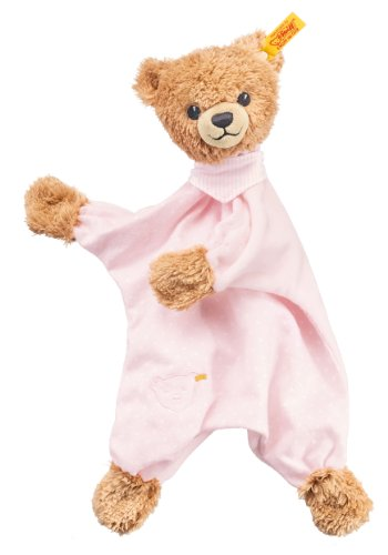 Steiff Sleep Well Bear Comforter Plush, Pink