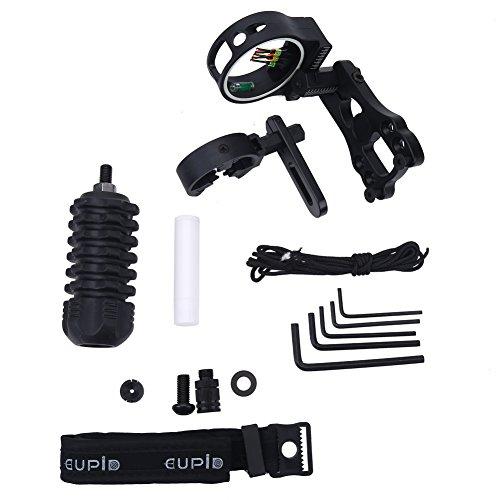conjunto de accesorios de tiro con arco mejorado accesorio combinado de kit básico, 10 en 1 compuesto accesorio de arco...