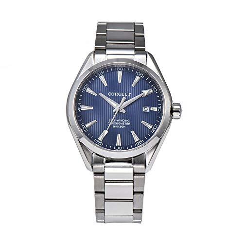 (Corgeut 41mm White Dial Luminous Marks Sapphire Glass 3ATM Water Resistance Japan Miyota 821A Self-Winding Movement Men's Wrist Watch (Model-3))