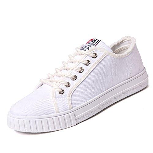di tela Black coreano tendenza uomo maschio scarpe in stile Espadrillas stile basse Nuove di scarpe Color da selvaggio scarpe primavera Size Bianca Harajuku 44 Scarpe scarpe aiuto marea basse Oxa0Y