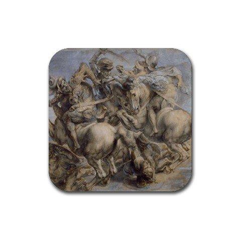 The Battle Of Anghiari Da Vinci - Battle of Anghiari By Leonardo DaVinci Coasters (Set of 4)