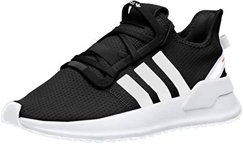 adidas Originals Unisex-Kid's U_Path Running Shoe, Black/White/Shock red, 13K M US Little Kid