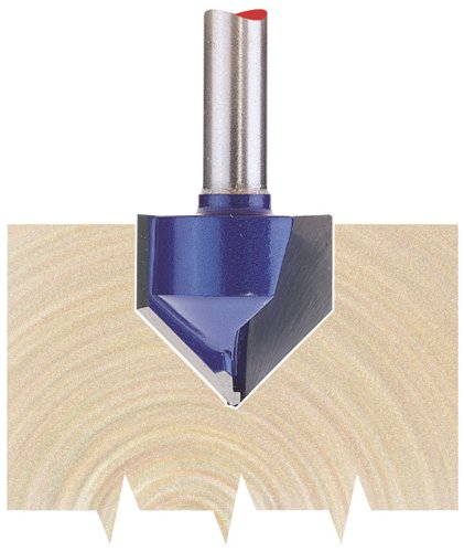 Draper 75337 1/4-inch Groove 19mm x 90 Degree Tungsten Carbide Tip Router Bit