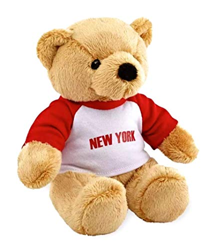 FAO Schwarz Plush Teddy Bear with New York Jersey for Children Toddlers, Super Soft, Adorable, Anniversary, Birthday, Valentine Gift Idea