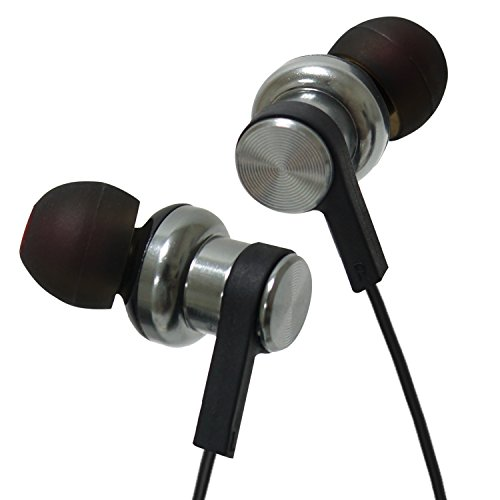 Enhanced Bass Headphone in-Ear with Dual air Chambers Structure, HD Memory Foam Tips, Frequency 5Hz to 70Khz Compatible with iPhone, Android, BlackBerry and Windows Phones (S34)