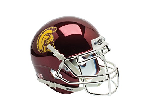 NCAA USC Trojans Chrome Authentic Helmet, One Size by Schutt