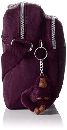 Purple Auberg Bolso Plum Dark KiplingDEENA Mujer Morado Bandolera 10HnSnq