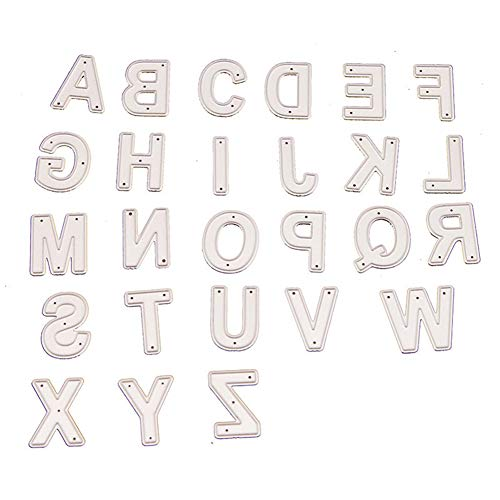 1 Pack 26 Alphabet Letters Metal Cutting Dies Kscraft Letter Dies for Card Making and Scrapbooking Christmas Die Cuts (04)