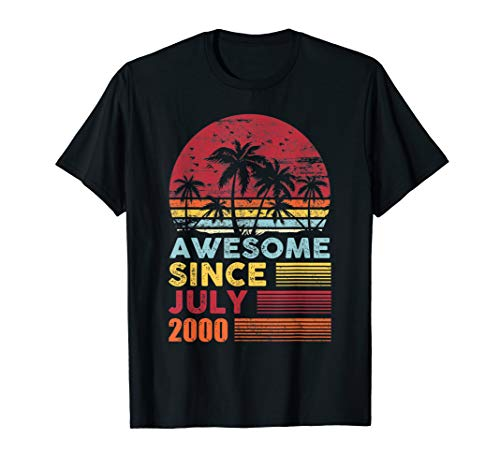 Awesome Since July 2000 19th Birthday Gifts 19 Years Old (Birthday Gift Ideas For 19 Year Old Daughter)
