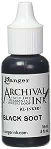 Ranger ARD51091 Designer Series Archival Re-Inkers, 5 oz, Black Soot
