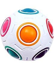 KidsPark regenboog magische bal 3d puzzel bal snelheid kubus speelgoed, wit